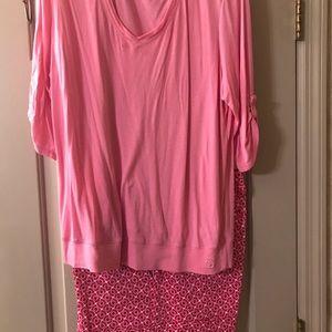 New York &Co shorts set Pink
